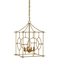 Lynworth 4 Light 17 inch Textured Gold Foyer Lantern Ceiling Light