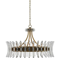 Coquette 8 Light 30 inch Antique Brass Chandelier Ceiling Light