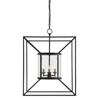 Ennis 4 Light 24 inch Black Bronze Foyer Lantern Ceiling Light