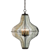 Zanzibar 10 Light 30 inch Light Bronze Gold / Raj Mirror Chandelier Ceiling Light