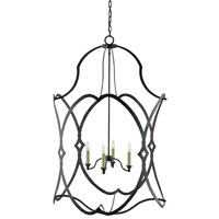 Charisma 4 Light 30 inch French Black Foyer Lantern Ceiling Light