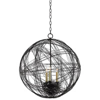 Nido 3 Light 24 inch Blacksmith Orb Chandelier Ceiling Light