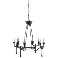 Conversation 8 Light 36 inch French Black Chandelier Ceiling Light