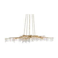 Forest Light 10 Light 62 inch Washed Lucerne Gold / Natural Chandelier Ceiling Light