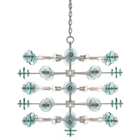 Galactica 30 Light 34 inch Contemporary Silver Leaf Chandelier Ceiling Light
