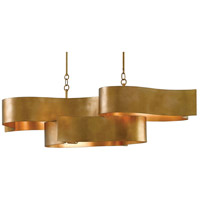 Currey & Company 9000-0046 Grand Lotus 6 Light 51 inch Antique Gold Leaf Chandelier Ceiling Light