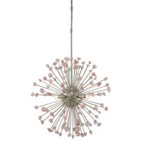 Quartz Moon 4 Light 25 inch Silver Granello / Rose Chandelier Ceiling Light