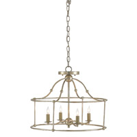 Fitzjames 4 Light 20 inch Silver Granello Semi Flush Mount Ceiling Light
