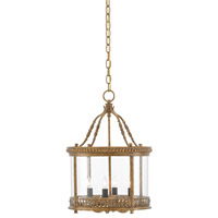 Grayson 4 Light 14 inch French Gold Leaf Semi Flush Mount Ceiling Light