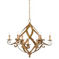 Gramercy 9 Light 37 inch Gold Leaf Chandelier Ceiling Light