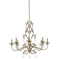 Pompeii 8 Light 35 inch Annatto Antique Silver Chandelier Ceiling Light