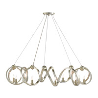 Ringmaster 10 Light 46 inch Contemporary Silver Leaf Chandelier Ceiling Light