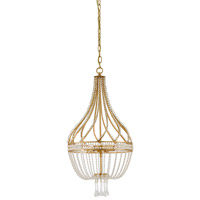 Ingenue 4 Light 14 inch Antique Gold Leaf Chandelier Ceiling Light