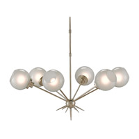 Shelly 6 Light 39 inch Silver Leaf Chandelier Ceiling Light