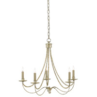 Cascade 5 Light 25 inch Majestic Silver Chandelier Ceiling Light