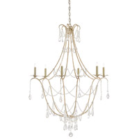 Elizabeth 6 Light 36 inch Silver Granello Chandelier Ceiling Light