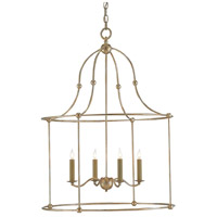 Currey & Company 9000-0068 Fitzjames 4 Light 25 inch Silver Granello Lantern Pendant Ceiling Light Large