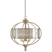 Florence 6 Light 28 inch Silver Granello Chandelier Ceiling Light
