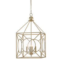Beckmore 4 Light 20 inch Silver Leaf Lantern Ceiling Light
