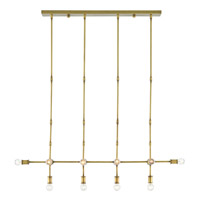 Henri 14 Light 13 inch Brass Chandelier Ceiling Light, Rectangular