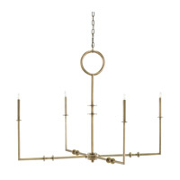 Rogue 4 Light 49 inch Antique Brass Chandelier Ceiling Light
