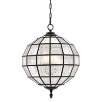 Axwell 3 Light 19 inch Mercury Glass/Antique Bronze Chandelier Ceiling Light