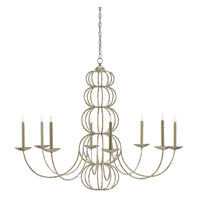 Clarion 8 Light 50 inch Majestic Silver Leaf Chandelier Ceiling Light