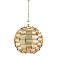 Tutti 3 Light 21 inch Silver Leaf Chandelier Ceiling Light, Orb