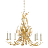 Longleaf 8 Light 35 inch Dark Contemporary Gold Leaf Chandelier Ceiling Light