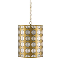 Go-Go 3 Light 16 inch Brass/Opaque Pendant Ceiling Light