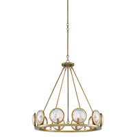 Marjiescope 10 Light 32 inch Antique Brass Chandelier Ceiling Light