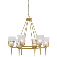 Patmos 6 Light 34 inch Antique Brass Chandelier Ceiling Light