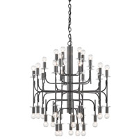Brianza 40 Light 31 inch Matte Black Chandelier Ceiling Light