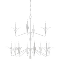 Josette 12 Light 49 inch Gesso White Chandelier Ceiling Light