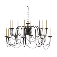 Digby 16 Light 54 inch Molee Black Chandelier Ceiling Light
