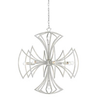 Malta 10 Light 32 inch Contemporary Silver Leaf Chandelier Ceiling Light