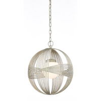 Circulaire 1 Light 16 inch Silver Leaf Pendant Ceiling Light
