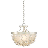 Adelia 1 Light 16 inch Silver Granello/Opaque Semi Flush Mount Ceiling Light