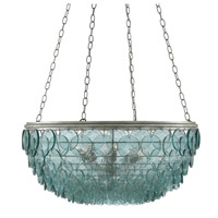 Quoram 8 Light 33 inch Silver Leaf Chandelier Ceiling Light, Small