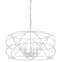 Ralston 5 Light 27 inch Gesso White Chandelier Ceiling Light