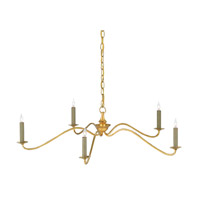 Valais 5 Light 36 inch Contemporary Gold Leaf Chandelier Ceiling Light