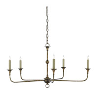 Nottaway 5 Light 36 inch Pyrite Bronze Chandelier Ceiling Light, Small