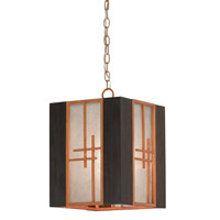 Kiyamacki 1 Light 12 inch Hiroshi Wood/Dark Burnt Cedar Lantern Ceiling Light