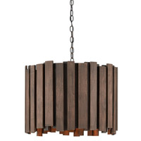 Kagurazaka 3 Light 22 inch Blacksmith/Light & Dark Burnt Cedar Chandelier Ceiling Light