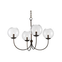 Rothwell 4 Light 33 inch Dark Bronze Chandelier Ceiling Light