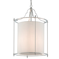 Miller 3 Light 22 inch Polished Nickel Lantern Ceiling Light