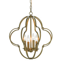 Sojourn 4 Light 20 inch Antique Brass Chandelier Ceiling Light