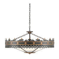 Currey & Company 9000-0181 Berkeley 6 Light 40 inch Antique Gold and Moss Gray Chandelier Ceiling Light  alternative photo thumbnail