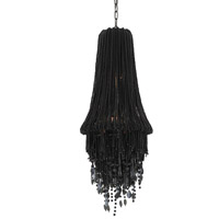 Shikari 2 Light 14 inch Black Beaded Glass Chandelier Ceiling Light