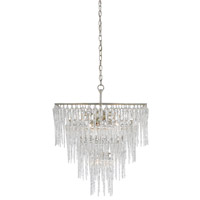 Icecap 7 Light 25 inch Silver Granello Chandelier Ceiling Light